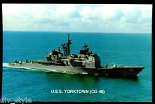 USS Yorktown CG-48 postcard US Navy Guided Missile Cruiser warship