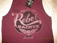 "Rebel Saints by AFFLICTION ""ANARCHY"" Tank Top Motor Club Anarchy Motorcycle"