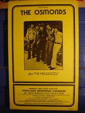 Scarce Osmonds Concert Poster Portland Memorial Coliseum '73 + Two 1971 Surveys