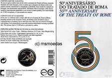 Portugal 2 Euro Gedenkmünze 2007 Römische Verträge Off.Coincard Münzkarte BU BNC