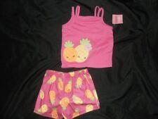 NWT Gymboree Girls PINEAPPLE Summer Shorts 3 3T 4 PJs Pajamas Gymmies Pink XS