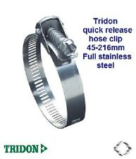 "1 x TRIDON CLAMP QUICK RELEASE 45-216mm SAE 128 9/16"" BAND WIDTH S/S hose clip"