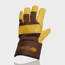 Genuine soft cowhide leather work gloves garden gloves