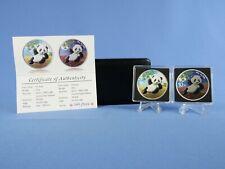 China Panda / Yuan Night & Day Edition 2020 Color , 2x30 Gramm Silber *St/BU*