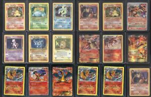POKEMON 16 CARD LOT HOLOGRAPHIC HOLO FOILS, 1ST EDITIONS, SHADOWLESS, CHARIZARD