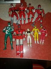 Power rangers action figures lot 2000's/1990's bandai