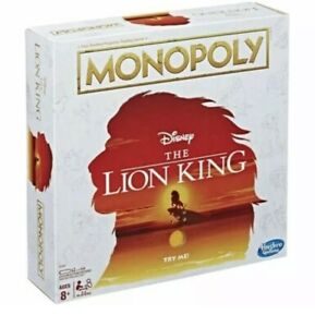 Monopoly Disney The Lion King Limited Edition Family Board Game Brand New