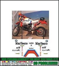 kit adesivi stickers compatibili  r 80 r 100 gs rep paris dakar 1985 malb rahier