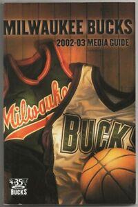 2002-03 Milwaukee Bucks NBA Basketball Media Guide Record Book