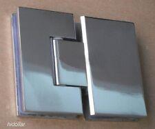 MIRROR CHROME STAINLESS SHOWER SCREEN GLASS HINGE SHOWERSCREEN HOLDER 180 DEGREE