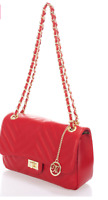 Markese Quilted Leather shoulder/cross body Bag, Red