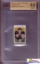 1964 Hallmark BEATLES Group Stamp BGS 9.5 GEM Rare-Lennon,McCartney,George,Ringo
