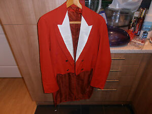 Vtg 1900s 4Th Royal Dragoon Guards Offr's White Tie Evening Scarlet Hunt Tails
