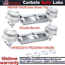 2Pcs Estufa de Gas Quemador de doble superior para general WB16K10026 AP2633210 PS232404 WB29K