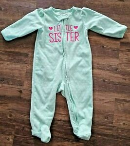 CARTER'S Child of Mine Girls Infant Sleeper Little Sister Size 3-6 Months