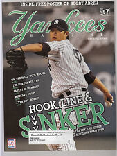 Chien Men Wang 2008 Yankees Magazine Game Program & Scorecard with Abreu poster