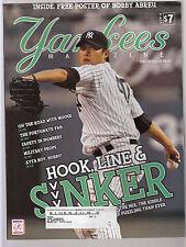 Chien Men Wang 2008 Yankees Magazine Game Program & Scorecard with Abreu poster