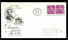USA 1958 Definitive, 4c Lincoln Coil Stamps FDC #C7482