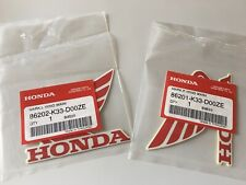 Bike Honda Wings 2x 90mm Fuel Tank Decal Red/White Part No 86201-k33-d00ze