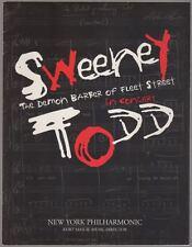 """Sweeney Todd"" Souvenir Program 2000 NY Philharmonic- LuPone, Audra McDonald"