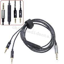 120cm Headphone Cable Remote + Mic For Sol Republic Master Tracks Hd V8 V10 V12