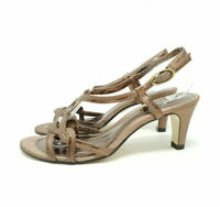 K Clarks Bronze / Brown Strappy Sandals Shoes Heels Party / Evening UK 3 EU 36