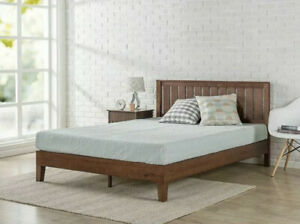 King Size Bed Frame Modern Farm House Country Mid Century Solid Wood Platform
