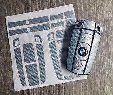 SILVER GREY CARBON Key Sticker Decal Overlay BMW1 3 5 6 SeriesZ4 X1 3 X5 X6