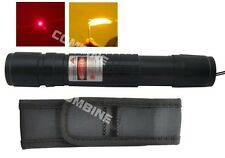 Waterproof 5mW Ajustable RED Burning Laser Pointer Pen Beam 650nM 18650 Holster