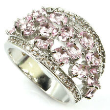 Gorgeous Pink Kunzite Cluster S/ Silver 925  Ring Size 9 Weimaraner Rescue