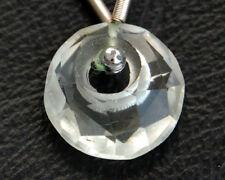 Natural Prasiolite Green Amethyst Faceted Round Coin Gemstone Bead 13mm.