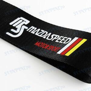 Car Tow Strap Belt Towing Hook Black JDM MAZDASPEED Racing Drift for MAZDA x1