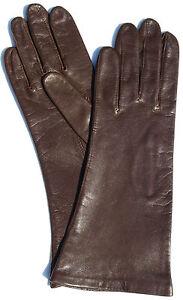 Gloves Leather Women Emperor Leather Glove Finger Padded Braun 7, M