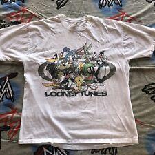 Looney Tunes 1997 T-Shirt Men's XL Glitter Rap Tee Roadrunner Wil-E Marvin Daffy