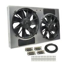 "Derale 16838 High Output Dual 12"" Electric RAD Fan/Aluminum Shroud 28.25"" Width"