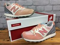 NEW BALANCE 996 LADIES UK 3 EU 35 PINK SILVER SUEDE TRAINERS RRP £85 J