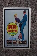 Bus Stop #2 Lobby Card Movie Poster Marilyn Monroe Buddy Adler White
