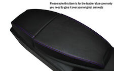 PURPLE STITCHING LEATHER ARMREST SKIN COVER FITS BMW 6 SERIES E63 E64 04-11