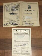 DDR Leistungskarte GST Mehrkampfabzeichen Kreisvorstand Anklam + Karte 1961