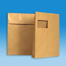 2000 Versandtaschen C4 mit 20 Mm falte und Klotzboden -mit Fenster- Faltentasche