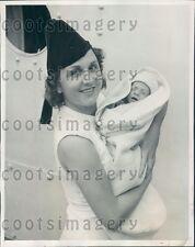 1940 St Louis MO Woman E Pedler w 7 Week Old Son Ship SS Exermont Press Photo