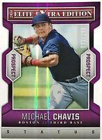 2014 Elite Extra Edition Michael Chavis #'d 33/150 Purple Status Die-Cut Red Sox