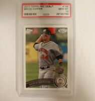 2011 Topps Pro Debut #196 Bryce Harper PSA 10 Nationals Phillies