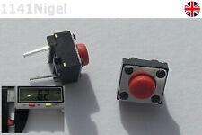 6.2mmx 4.8mm 2 Varilla Rojo Interruptor Momentáneo Pulsador Micro SMD