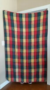 VTG Chatham Throw Blanket 46 x 72 - Red Green Yellow Plaid - Stadium Car Camp