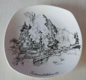 1978 CIVITAN CLUB - Collectors Plate - KRISTIANAND , FIGGJO, NORWAY