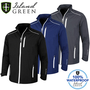 ISLAND GREEN MENS SEAM SEALED WATERPROOF GOLF JACKET / M-XXL / NEW 2021 MODEL