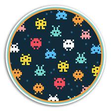 2 x 10cm Retro Video Game Vinyl Stickers - Gamer Sticker Laptop Luggage #8456