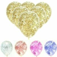 6Pcs Glitter Confetti Latex Balloons Party Celebration Wedding Decor Supplies