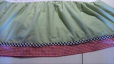 "BED SKIRT Baby Bed by OshKosh Green Red Navy Checks Ruffles 4 Sides 28""X49""X12"""